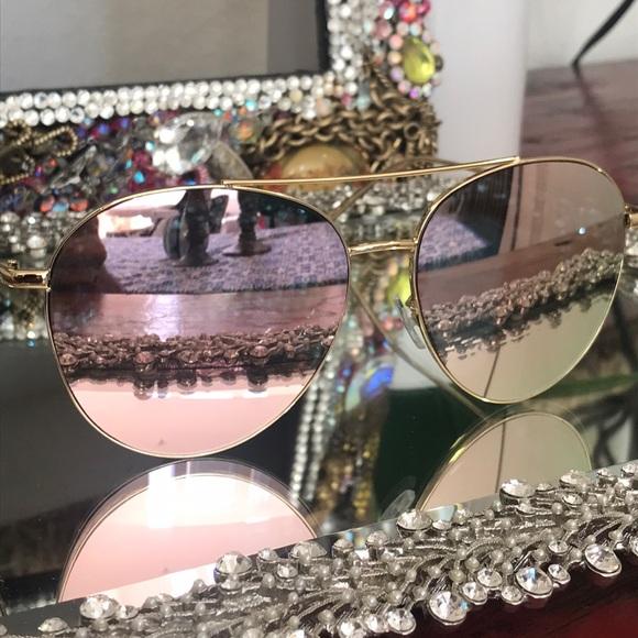 1ae3c7354808 jenna jameson Accessories - Pink mirrored on gold aviators sunnies